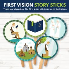 Primary 3 Lesson 5 - First Vision Story Sticks - These are great for teaching Primary