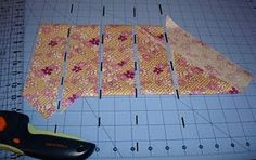 folding method to cut bias binding -  I don't use bias much but i may need this sometime.