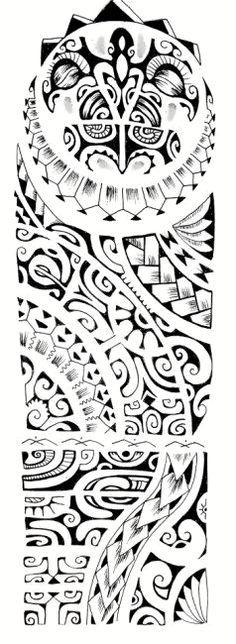 Polynesian tattoo pattern