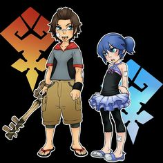 Tiny Aqua and Terra -kingdom hearts Terra Kingdom Hearts, Kingdom Hearts Funny, Kingdom Hearts Fanart, Kh Bbs, Kindom Hearts, Digimon, Comic Character, Final Fantasy, Destiny