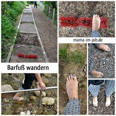 Appenzeller Barfußweg - Untergründe. Foto: Petra A. Bauer