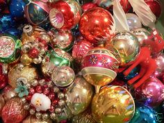 Vintage Shiny-Brite ornaments - my tree is covered in these every year.