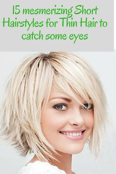 Short Hairstyles are always trendy. Women love to wear their hair short for the low maintenance feature. You can look at our 15 mesmerizing Short Hairstyles for Thin Hair to catch some eyes. short hairstyles for fine hair . Short Textured Haircuts, Bobs For Thin Hair, Short Hairstyles For Thick Hair, Bob Hairstyles For Fine Hair, Haircuts For Fine Hair, Short Hair With Bangs, Short Haircut, Fall Hairstyles, School Hairstyles