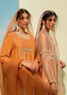 Mascon – LAAM Silk Pants, Silk Dress, Embroidery Suits Punjabi, Desi Wear, Desi Clothes, Orange Fabric, Silk Dupatta, Wedding Attire, Desi Wedding