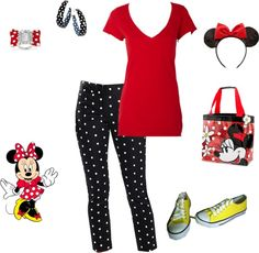"""Minnie Mouse Outfit"" by teeg70 on Polyvore"