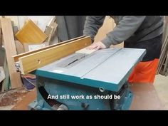 Improving Makita table saw - rock solid fence. - YouTube