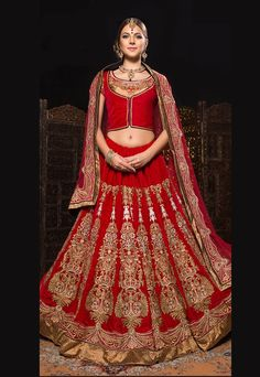Designer Dark Beige Art Silk Lehenga By Hypnotex.