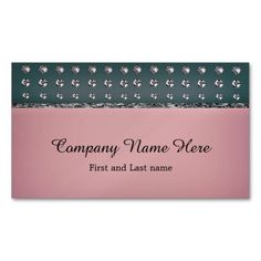 Rhinstone and Soft Pink Business Card