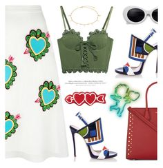 """""""- Heart to Heart -"""" by bugatti-veyron ❤ liked on Polyvore featuring Dsquared2, House of Holland, Puma, MICHAEL Michael Kors and H&M"""