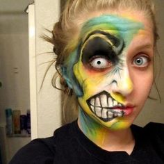 Face painting crazy design