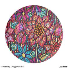 Choose from a variety of Abstract plate designs or create your own! Shop now for custom plates & more! Browse our pre-existing designs or create your own on Zazzle today! Plates For Sale, Plate Design, Creative, Flowers, Artist, Gifts, Plaque Design, Presents, Artists