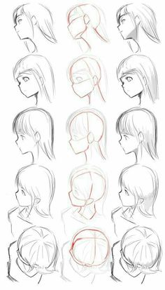 ▷ 1001 + ideas on how to draw anime - tutorials + pictures face drawing, from different angles, anime boy drawing, black and white, pencil sketch Drawing Reference Poses, Drawing Tips, Hair Reference, Design Reference, Anatomy Reference, Art Drawings Sketches, Pencil Drawings, Pencil Art, Gesture Drawing