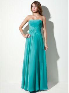 Bridesmaid Dresses - $129.99 - A-Line/Princess Strapless Floor-Length Chiffon Bridesmaid Dress With Ruffle Beading  http://www.dressfirst.com/A-Line-Princess-Strapless-Floor-Length-Chiffon-Bridesmaid-Dress-With-Ruffle-Beading-007001108-g1108