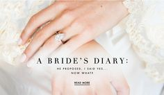 A Bride's Diary | Photography: Roey Yohai Photography. Read More: http://www.insideweddings.com/news/planning-design/a-brides-diary-were-engaged-now-what/2682/