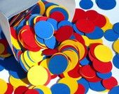 Primary Colors Paper Confetti Dots Red Yellow Blue