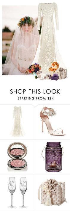 """""""Orange and purple wedding"""" by priscilla12 ❤ liked on Polyvore featuring Temperley London, Giambattista Valli, Chantecaille, Cultural Intrigue, Kate Spade, bride and wedding"""