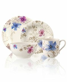 Villeroy & Boch Dinnerware, Mariefleur Gris Collection, If Rapunzel had China. #Tangled
