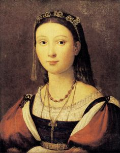 Portrait of Eleonora Gonzaga (by Shearman) aka The Boston Raphael attributed to Raphael Raffaello Sanzio da Urbino (1483–1520) (by Shearman)