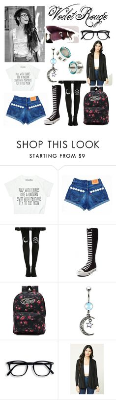 """Wattpad ""Violet"""" by lostboy1217 ❤ liked on Polyvore featuring Converse, Vans and Forever 21"