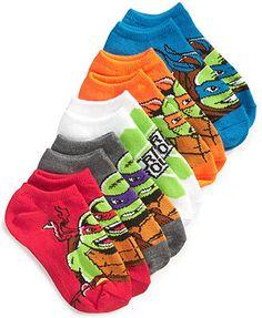 Teenage Mutant Ninja Turtles Boys' or Little Boys' 5-Pack No-Show Socks