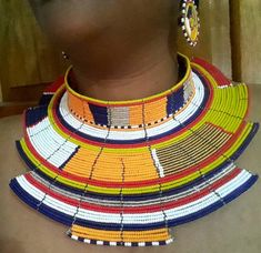 Utamu africa necklace /Jewelry African necklace , african colorful necklace, tribal colorful jewelry, colorful beads necklace , ethnic color