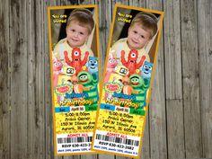 Yo Gabba Gabba Birthday Party Ticket Invitations by 10x10us, $9.99