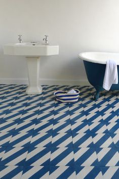 Bathroom floor tiles :: popham design