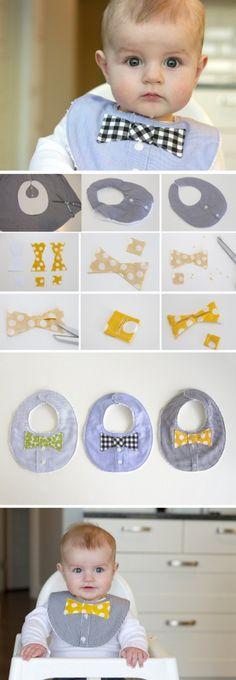 How to sew bib for your little gentleman, pattern / Шьем слюнявчик для мальчика, выкройка