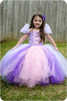 Rapunzel Tangled Tutu Dress!! A dress to make Hailey for Halloween and for her to wear for her birthday!! : )