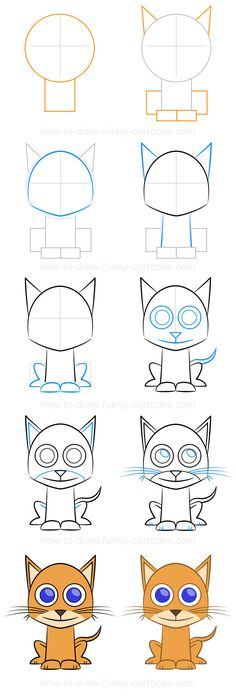 How to draw a cat (step-by-step)