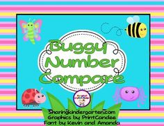 Here's an activity for comparing numbers. There are six sets covering the following number ranges:  spiders 1-9, ladybugs 10-19, grasshoppers 20-29, bee 30-39, butterfly 40-49, and ant 50-59.