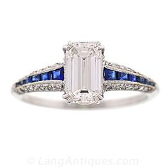 Art Deco Engagement Ring - 10-1-1439 - Lang Antiques