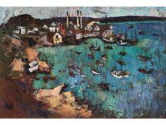 Artist George Enslin - FindArtinfo Art Price, Antique Paint, Famous Artists, Art Pictures, Modern Art, Sculptures, Paintings, Watercolor, Antiques