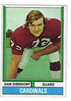 ST LOUIS CARDINALS - Dan Dierdorf #32 TOPPS 1974 NFL