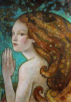 Rebecca Guay ... glimt looking mermaid