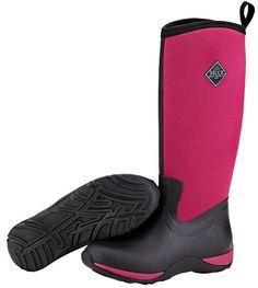 Muck Boots Women's Arctic Adventure Solids Winter Boot - Black/Maroon (WAA-600) 1