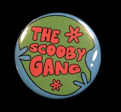 Button Scooby-Doo Buffy Vampire Slayer Scooby Gang Mystery Machine Van Sunnydale
