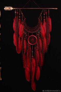 Arrow Dreamcatcher Moon Dreamcatcher red dreamcatcher Fire dreamcatcher copper d. Dream Catcher Craft, Dream Catcher Mobile, Feather Dream Catcher, Dream Catcher Boho, Moon Dreamcatcher, Dreamcatchers Diy, Beautiful Dream Catchers, Boho Dekor, Dream Catcher Native American