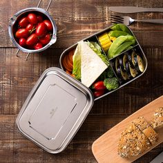 Online shopping for eco-friendly products with free worldwide shipping Stainless Steel Lunch Box, Dry Well, Metal Lunch Box, Lunch Box Recipes, Food Containers, Free Delivery, Euro, Eco Friendly, Vegan