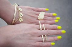 Don't let dreary days get you down…today we're crushing on bright nails #Missguided #Nails #Trends #Fashion