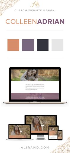 Colleen Adrian website design and branding Web Design Tips, Blog Design, Ui Design, Webpage Layout, Custom Website Design, Building A Website, Create Website, Social Media Marketing, Wordpress