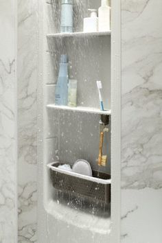 Clean A Bathroom Plans corian tub surround with a nitch for storage. | island pacific