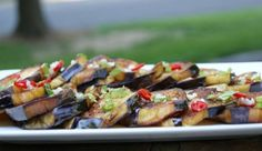 The classic black eggplant variety works best in recipes that require frying, like this one. Middle East Food, Middle Eastern Recipes, Eggplant Dishes, Eggplant Recipes, Israeli Food, Israeli Recipes, Eggplant Varieties, Gluten Free Sides Dishes, Mint Recipes