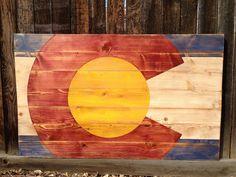 Primitive and Rustic Designer Colorado Flag Wall by ColoradoJoes, $80.00