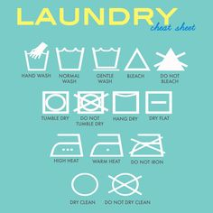 A key to laundry symbols