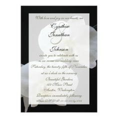 Vow Renewal Invitation -- White Orchids