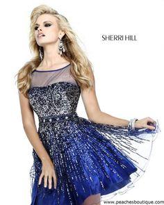 Sherri Hill Short Dress 8525 at Peaches Boutique