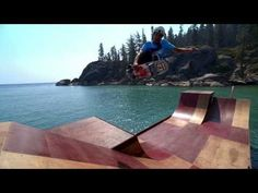 What everyone with no backyard & big lake needs, floating skateboard ramp http://rec-law.us/1lYttXy  #RecreationLaw Bob Burnquist's Floating Skate Ramp