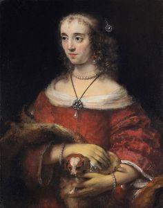 Rembrandt van Rijn, Portrait of a Lady with a Lap Dog.