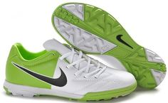 Nike Total 90 Shoot IV TF Mens Astro Turf Soccer Shoes(White Green Black) 366286182052